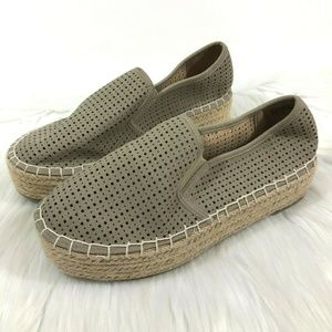 altard state Perforated Esme Espadrille Flatforms